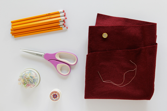 DIY Pencil Clutch - Get the tutorial at handsoccupied.com