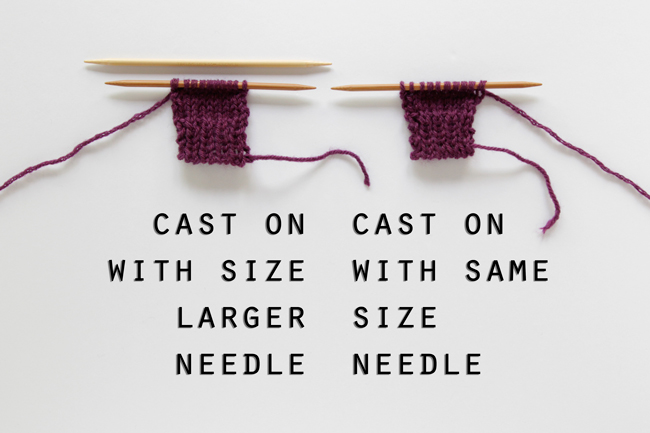 Knitting tip: if your cast on is tight, cast on using a size larger needle! | handsoccupied.com