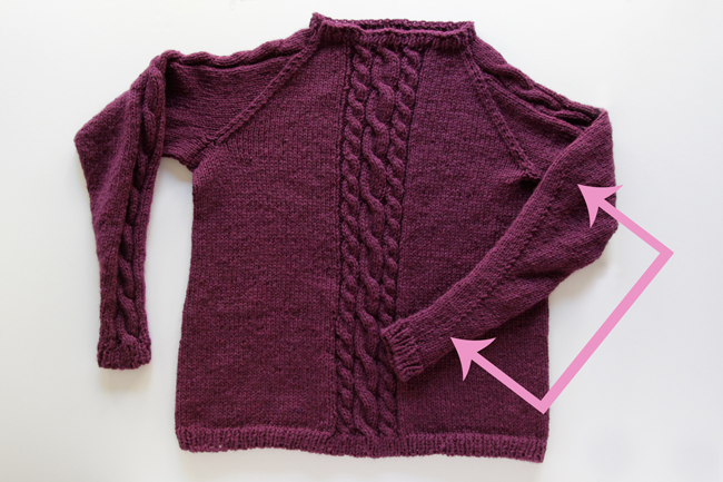 Remy Pullover Knit Along Day 2: It's Sleeve Time at handsoccupied.com
