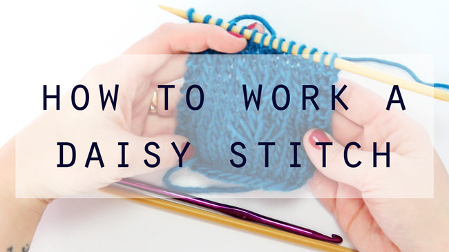 How to Work a Daisy Stitch at HandsOccupied.com