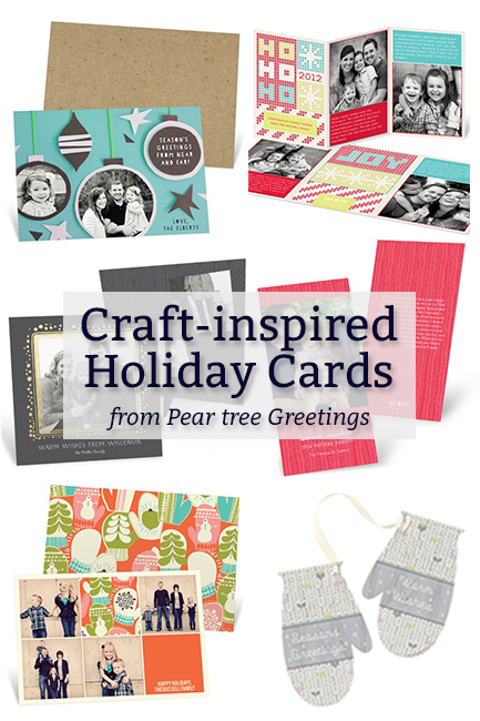 Craft-Inspired Holiday Cards from Pear Tree Greetings at HandsOccupied.com