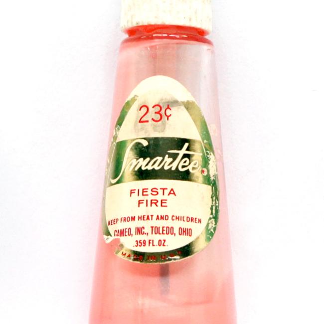 VIntage Smartee Nail Polish in Fiesta Fire, 29 cents via handsoccupied.com