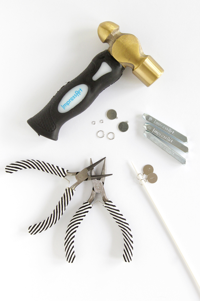DIY Metal Stamped Stitch Markers | Get the tutorial at HandsOccupied.com