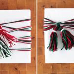 Yarn Tassel Gift Wrap 2 Ways