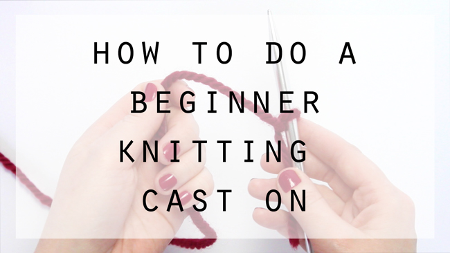 How to do a beginner knitting cast on at HandsOccupied.com