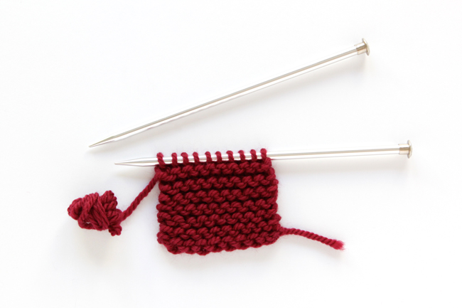 How to do a knit stitch - knitting 101 tutorial with video