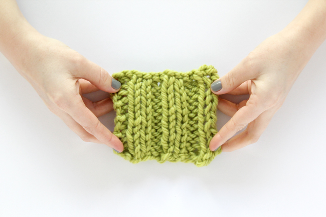 Knit Rib Stitch How To : Chunky Ribbed Cowl & How to Knit Rib Stitch