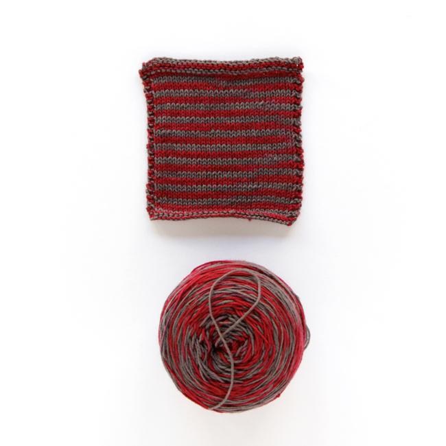 Lorna's Laces Shepherd Sock Yarn in Scarlet and Grey / Bucs (Exclusive colorway for A Good Yarn Sarasota)
