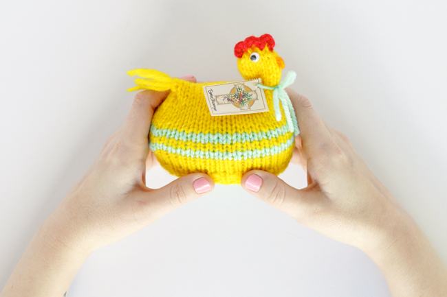 The Chicken & The Egg - A look at a vintage Easter knitting project.
