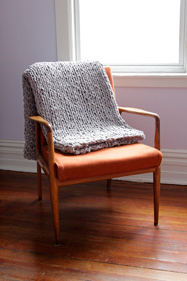 Bulky Throw – Free Knitting Pattern | Hands Occupied