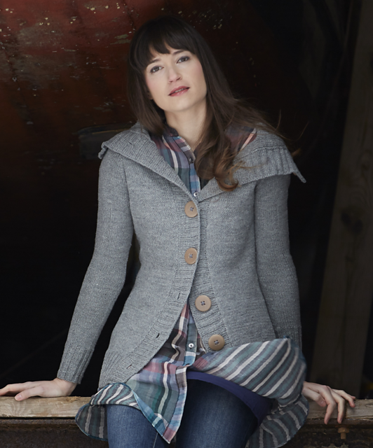 Calligraphy Cardigan pattern by Hannah Fettig, published in Home & Away: Knits for Everyday Adventures