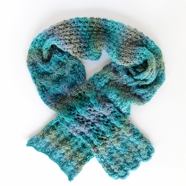 Spring Meadow Scarf - a great, free pattern for a lacy scarf!