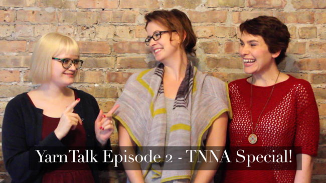 Click through to see the latest episode of YarnTalk, where we discuss BIG knitting trends and designs for fall and take a look at the TNNA tradeshow.
