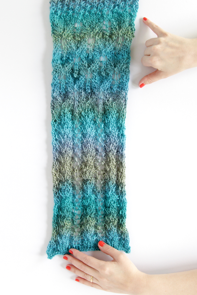 Spring Meadow Scarf Knit Along Week 5