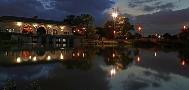 Humboldt Park Boathouse via Flickr user sorsa
