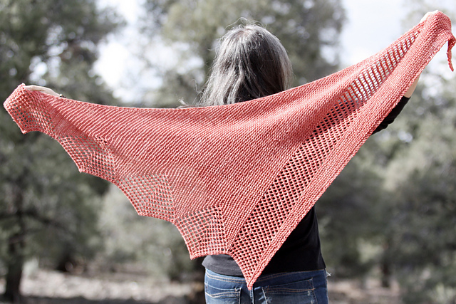 Purless by Rosemary (Romi) Hill in 7 Small Shawls; Year 5: Asymmetry