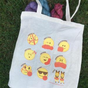 Knitting Emoji Tote from PostStitch