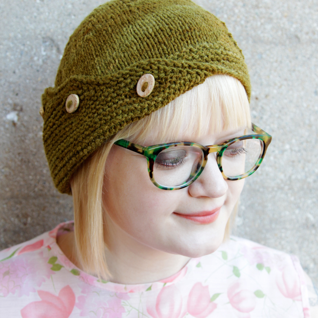 Check out the Delta Hat, an asymmetrical cloche that's a blast to knit!