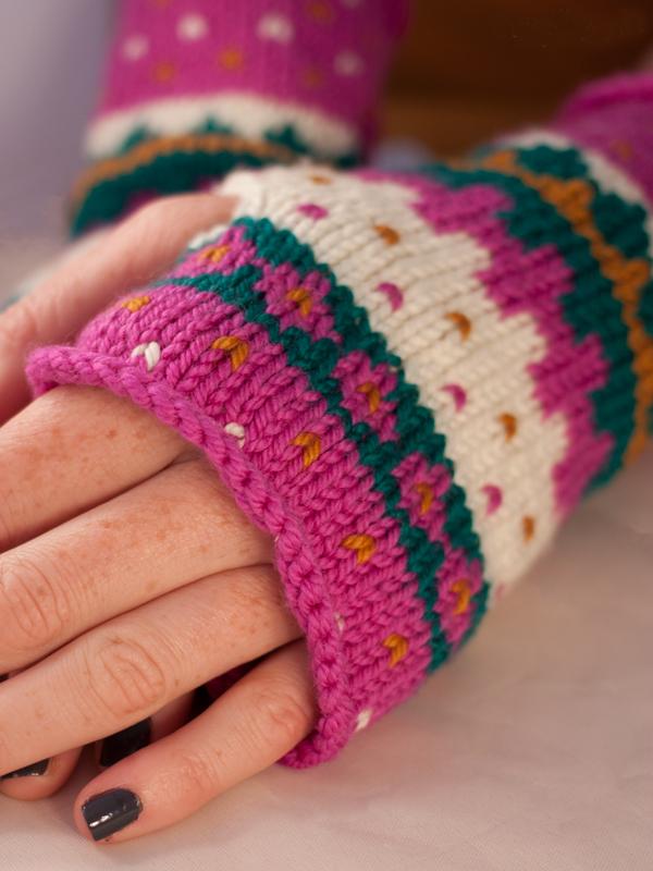Fair Isle Friends Wrist Warmers  at Ewe Ewe Yarns
