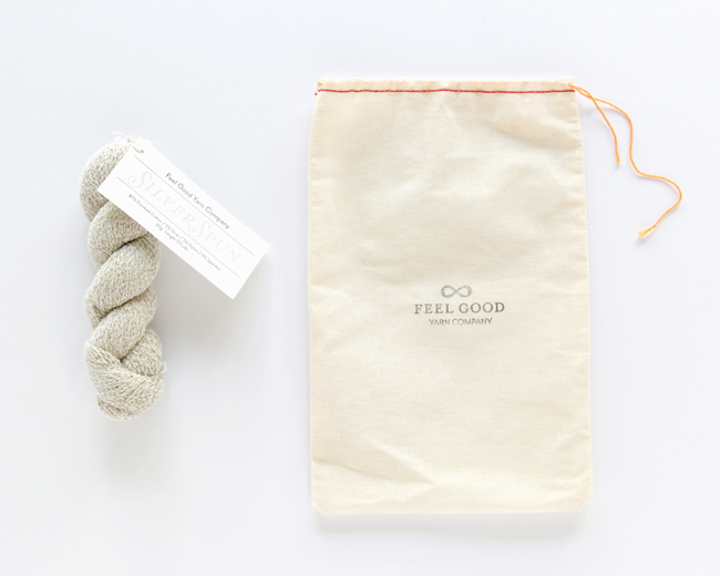 Feel Good Yarn Co. yarn is would with real silver, making it conductive, therapeutic, and totally innovative.
