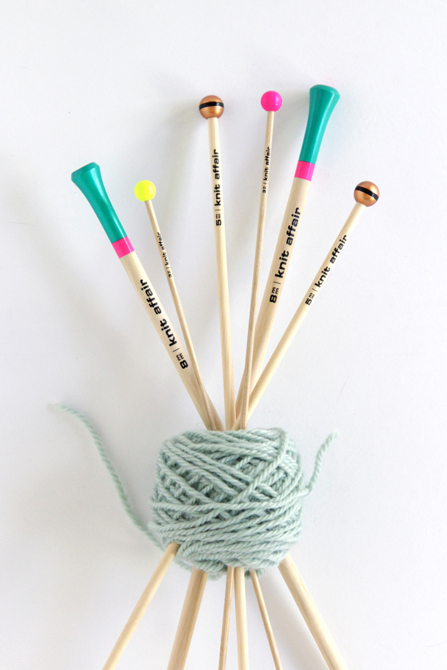 Check out these colorful & contemporary knitting needles, perfect for gifting!