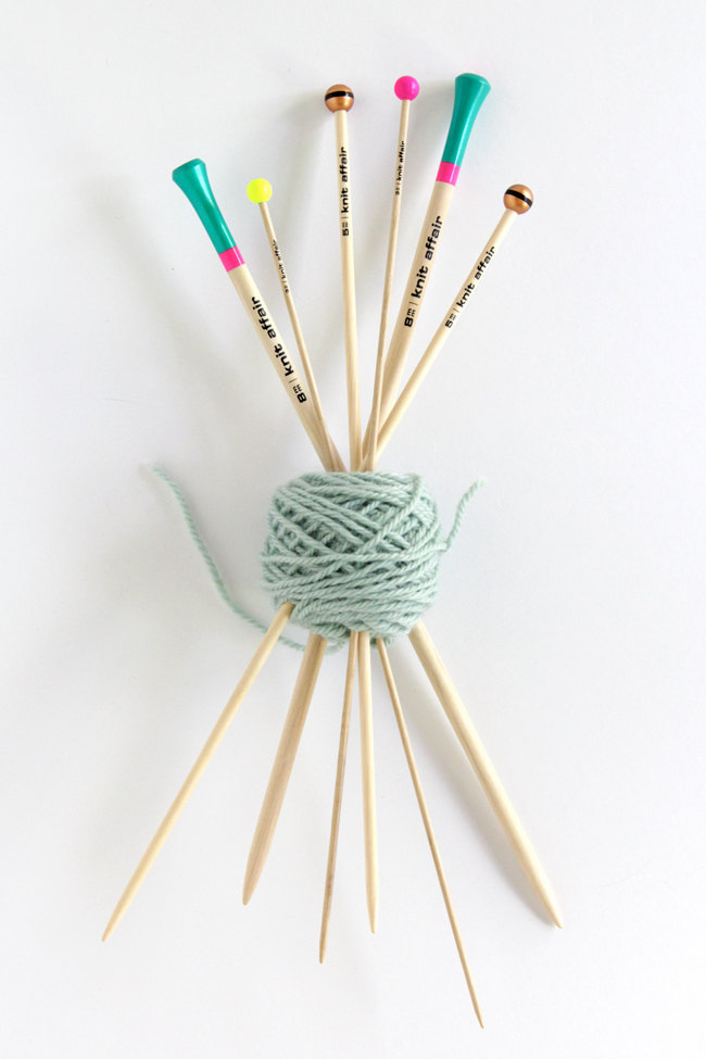 These sustainably produced, colorful knitting needles are made in Berlin and oh-so-fun!
