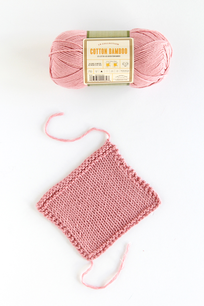 Lion Brand Yarn's LB Collection Cotton Bamboo yarn in Cherry Blossom