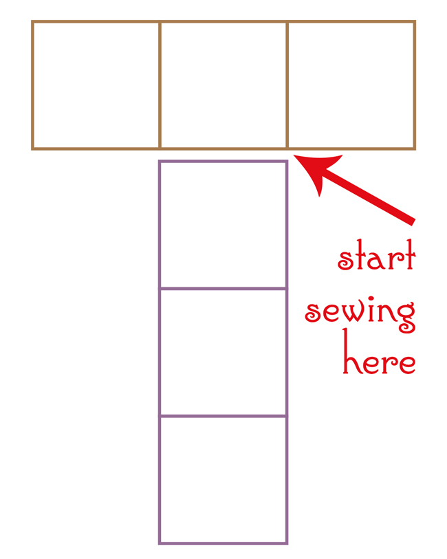 How to join two long rectangles into a cube shape.
