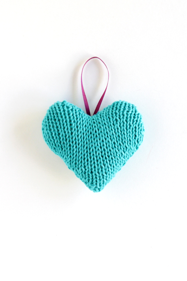 Knitted Heart Ornament - Bing images