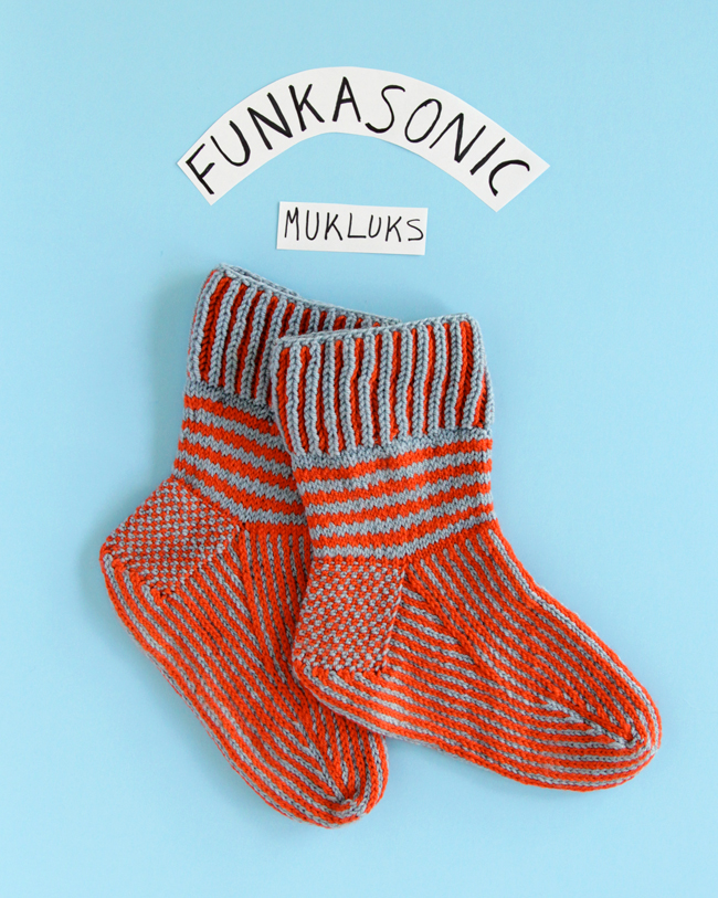 Knit the Funkasonic Mittens & Funkasonic Mukluks to keep toasty this winter!