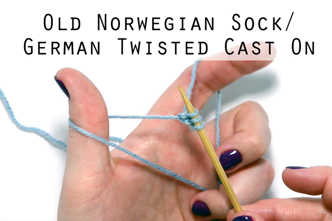 Click through for an easy video tutorial on how to do an Old Norwegian Cast On, also known as German Twisted or Old Norwegian Sock Cast On in knitting.