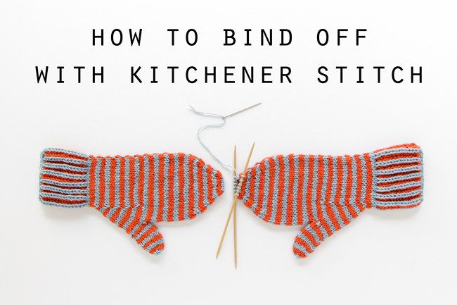 How To Bind Off Stitches When Knitting : How to Bind Off with Kitchener Stitch