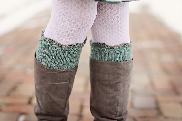 Gracie Boot Cuffs pattern by Tracie Taggart