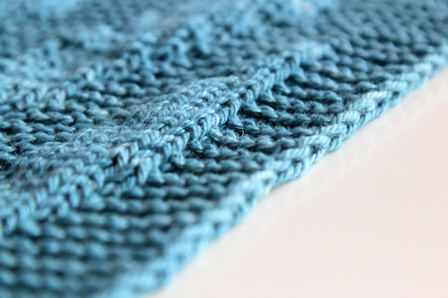 Knitting Edges Garter Stitch : How to knit a chain edge