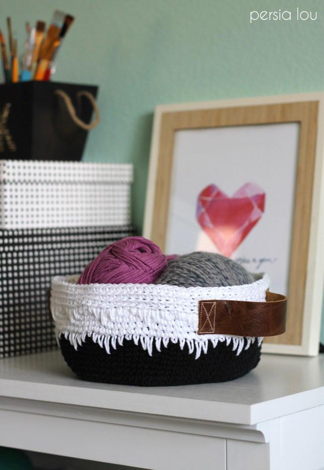 Geometric Crochet Basket