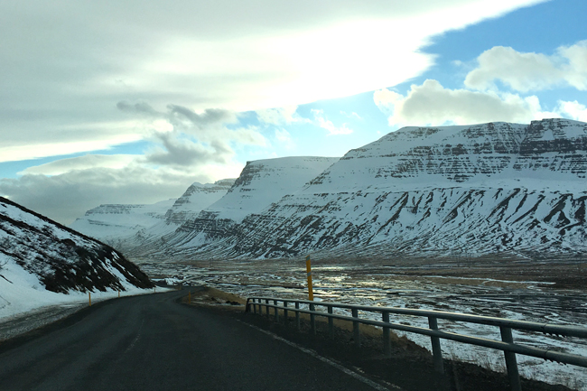 A view of some of Iceland's many beautiful mountains from the Ring Road.