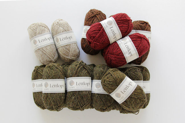 A sweater quantity of Lettlopi yarn just waiting to be knit into a lopapeysa, a traditional Icelandic sweater.