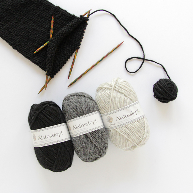 Álafosslopi is a versatile, single ply Icelandic yarn, perfect for knocking out a handknit sweater real quick!