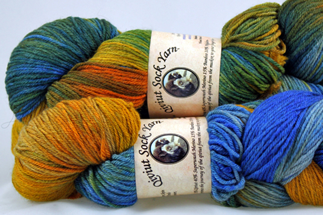 Bijou Basin Ranch's Qiviut Sock Yarn in Northern Lights