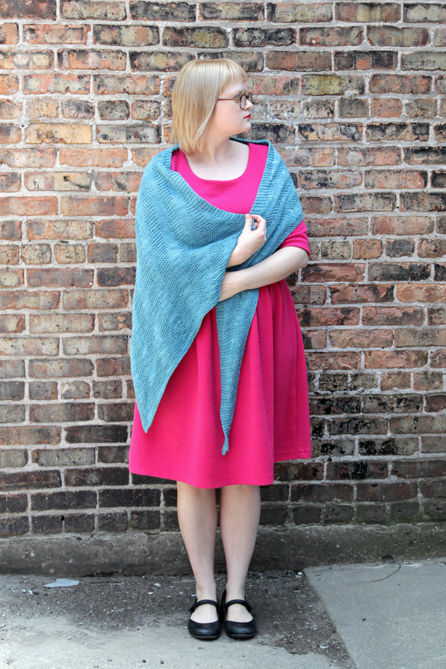 Sixth Degree Shawl - a free pattern by knitting designer Heidi Gustad