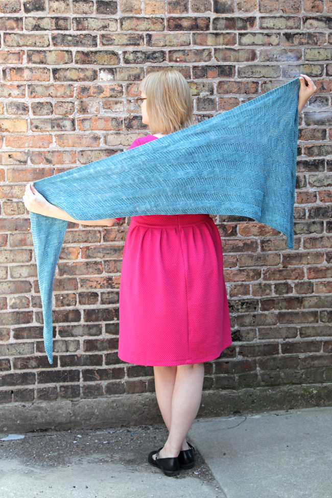 The Sixth Degree Shawl by Heidi Gustad is a free pattern designed with American made, ethically-sourced yarn!