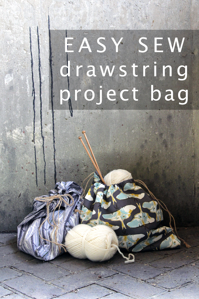 Use your favorite pretty fabric to sew a drawstring bag in minutes!