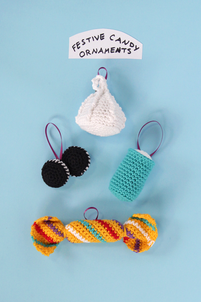 Crochet Festive Candy Ornaments Three Ways