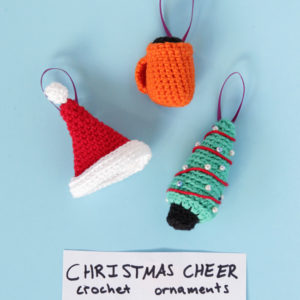 Crochet Christmas Cheer Ornaments