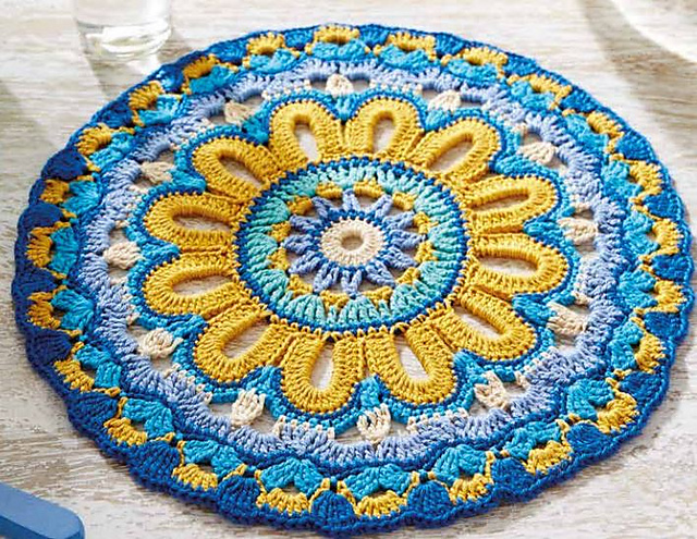 22401 Blue Mandala by Arne & Carlos