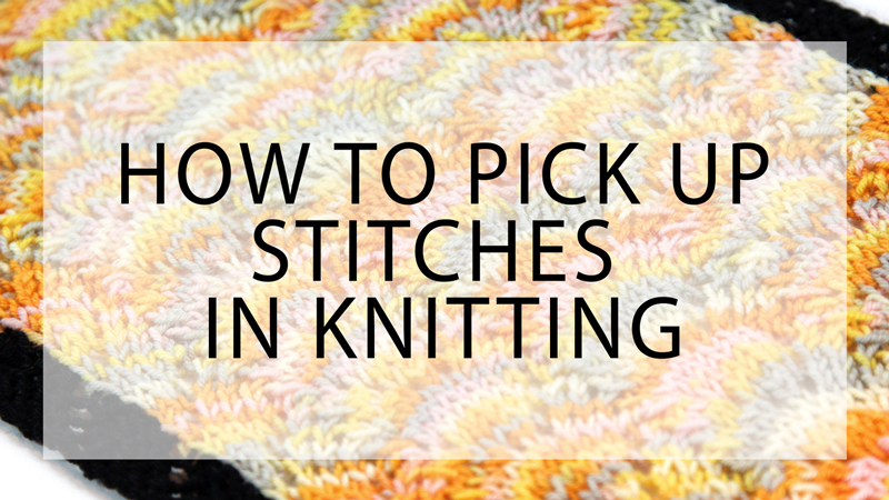 How to Pick Up Stitches in Knitting Hands Occupied