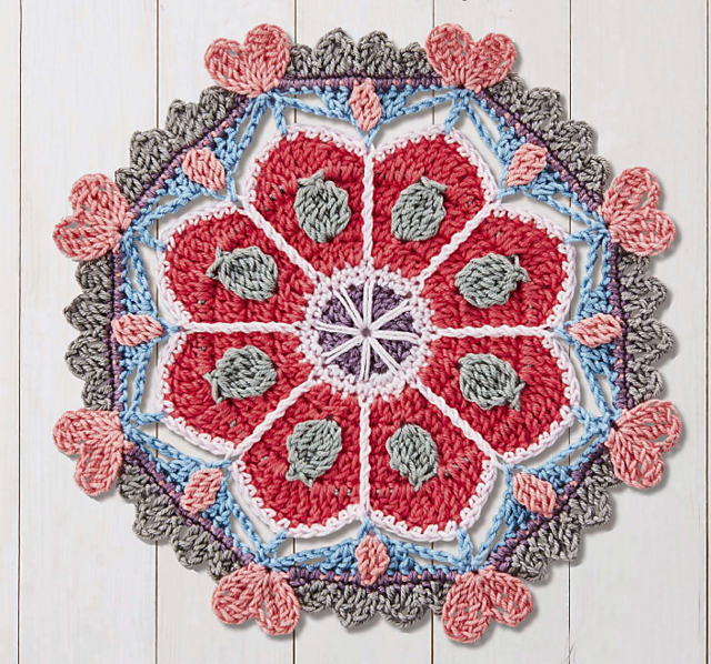 We Heart It Mandala by Lucy Croft