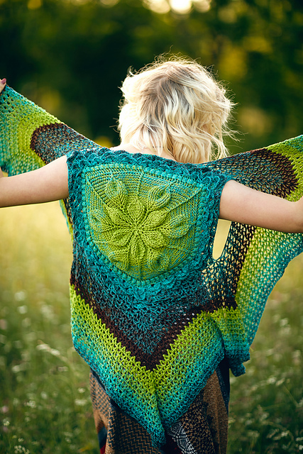 Embossed Crochet Vest by Bonita Patterns