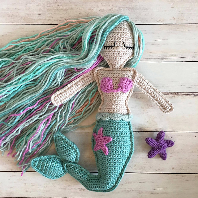 Ragdoll Mermaid by Spin a Yarn Crochet