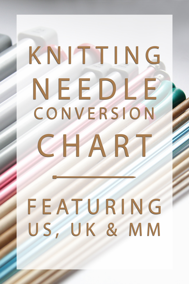 Knitting Needle Sizes & A Handy Conversion Chart Hands Occupied